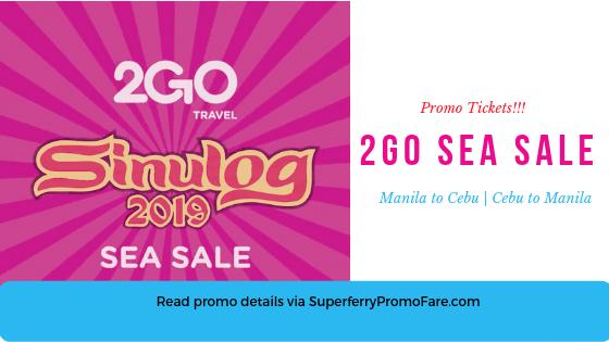 2GO SEA SALE Cebu January 2019
