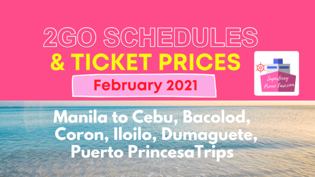 2go schedules and prices 2021 visayas