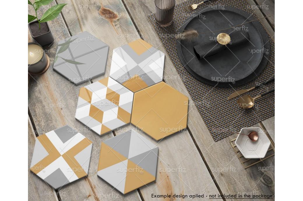 hexagonal ceramic tile mockup