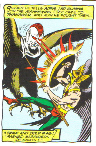 Manhawk vs. Hawkman!