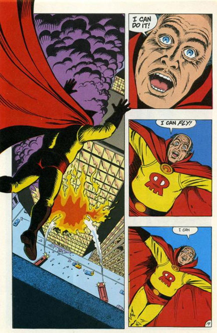 The suicide of the Red Mask in Animal Man #7