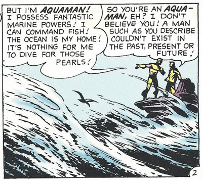 Doubtful Old Man doesn't believe in Aquaman