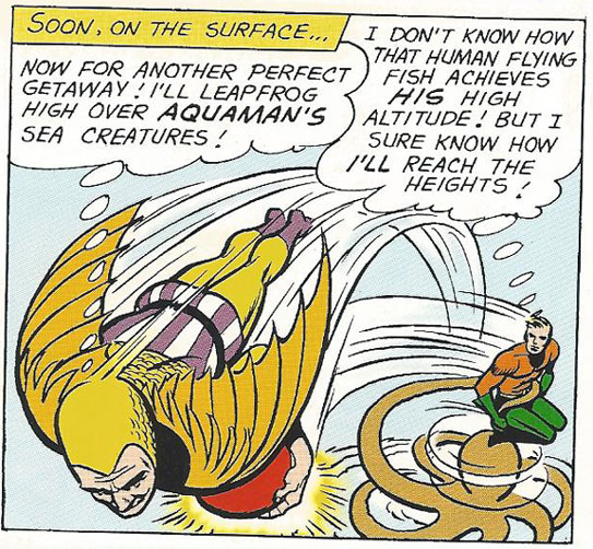 The Human Flying Fish vs Aquaman
