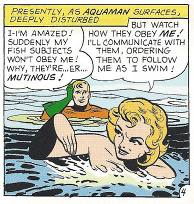 "The ""Aqua Queen"" shows up Aquaman time and again!"