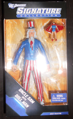 Uncle Sam & Doll Man figures