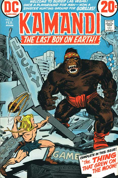 Kamandi #3 cover by Kirby