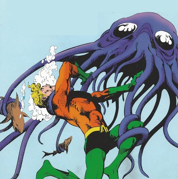 Aquaman vs. Creepy Creature