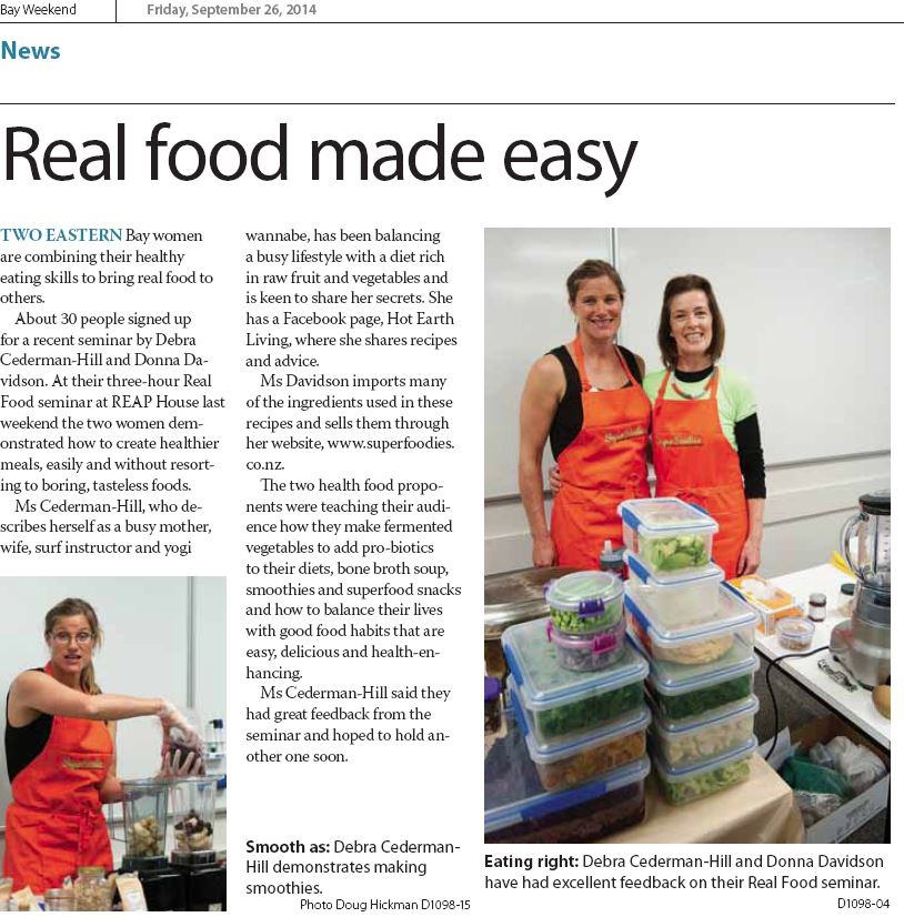 Real food made easy article