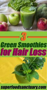 In this post, I want to share with you 3 green smoothies for hair loss to restore thinning hair and promote hair growth! Enjoy!