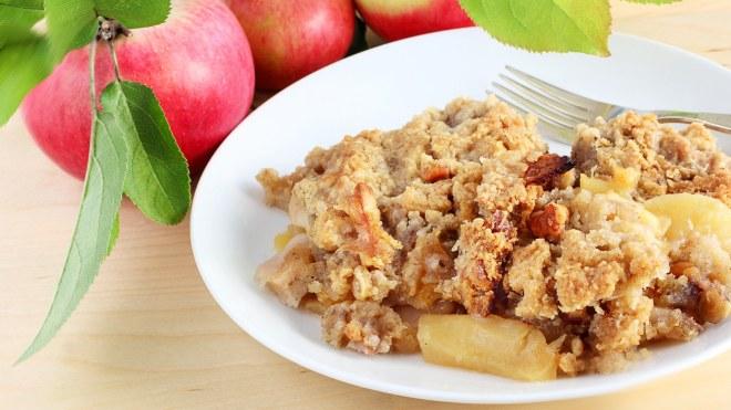 healthy apple oat crisp