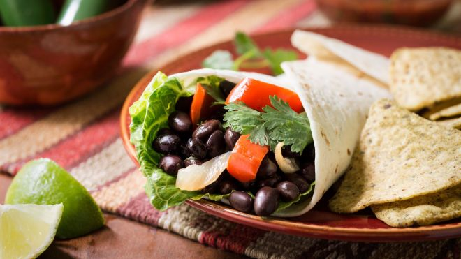 bean and veggie burrito recipe