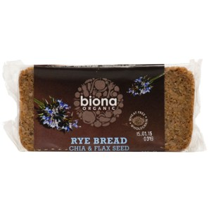 Rye Chia and Flax Bread Organic