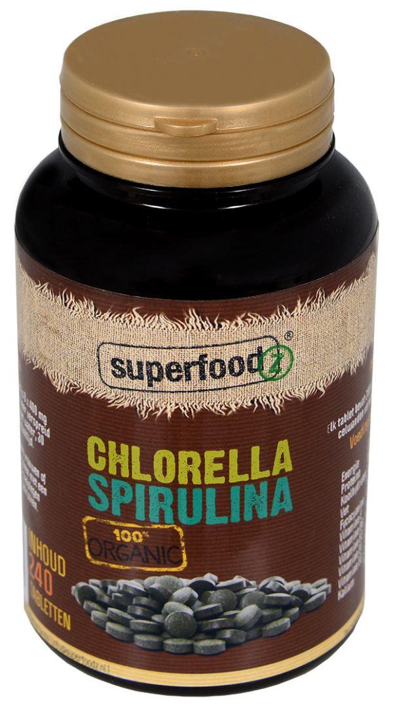 Chlorella Spirulina tabletten organic RAW
