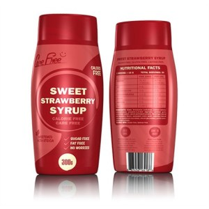 Care Free Syrups - zoete siropen - 1 fles - Strawberry gezond?