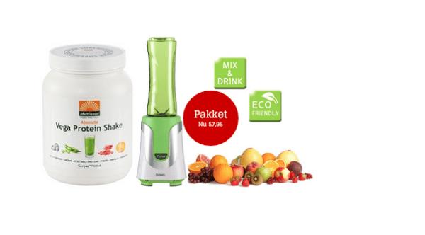 Domo blender + Absolute superfood protein vega shake gezond?