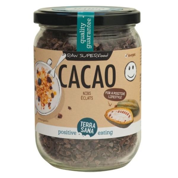 RAW Cacao Nibs (in glas) Kopen Goedkoop