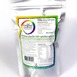 Original Superfoods Chlorella + Cgf + Spirulina 250 Gram gezond?