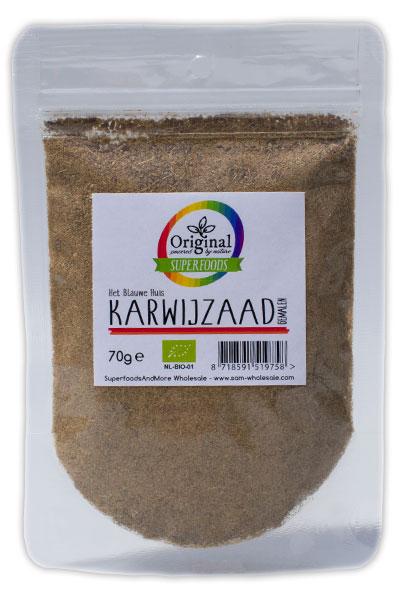 Original Superfoods Biologische Karwijzaad Gemalen 70 Gram