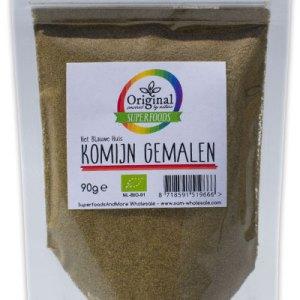 Original Superfoods Biologische Komijn Gemalen 90 Gram