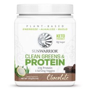 Sunwarrior Clean Greens & Protein Chocolate 175 Gram gezond?