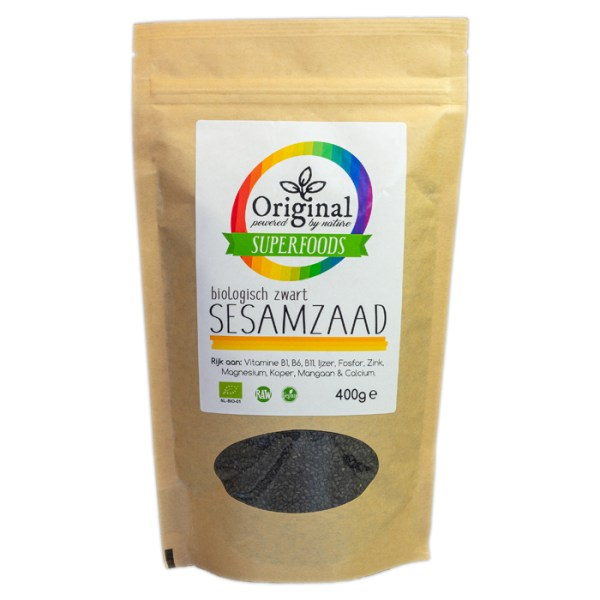 Original Superfoods Biologisch Zwart Sesamzaad 400 Gram
