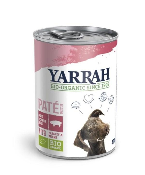 Biologisch hondenvoer pate met varkensvlees 400 gram gezond?