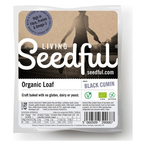 Living Seedful Biologische Seedful Whole Bread with Black Cumin 475 Gram