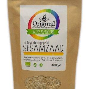 Original Superfoods Biologische Sesamzaad Ongepeld 400 Gram