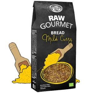 Simply Raw Biologische Raw Gourmet Bread Mild Curry 90 Gram
