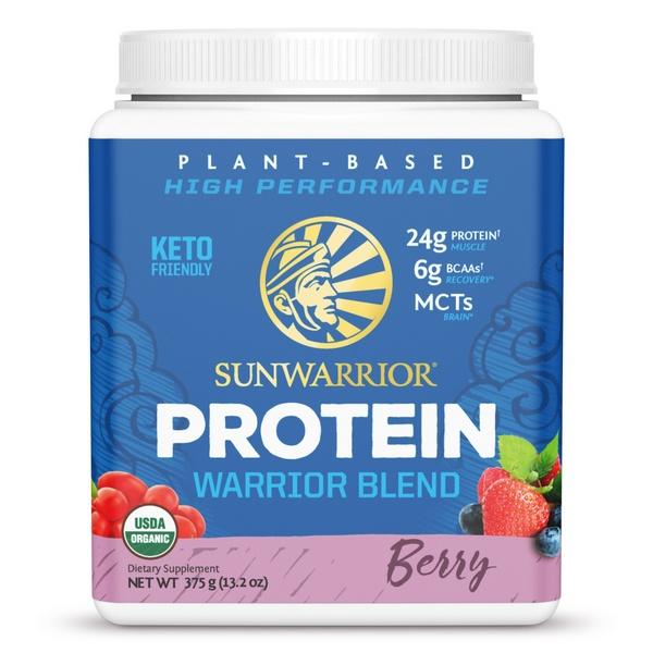 Sunwarrior Warrior Blend Biologische Proteïne Bessen 375 Gram