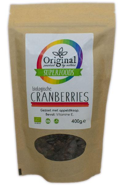 Original Superfoods Biologische Cranberries 400 Gram