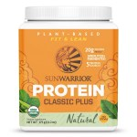 Sunwarrior Classic Plus Biologische Proteïne Naturel 375 Gram Aanbieding