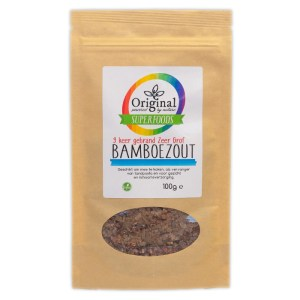 Original Superfoods Bamboezout 9 x Gebrand Zeer Grof 100 Gram