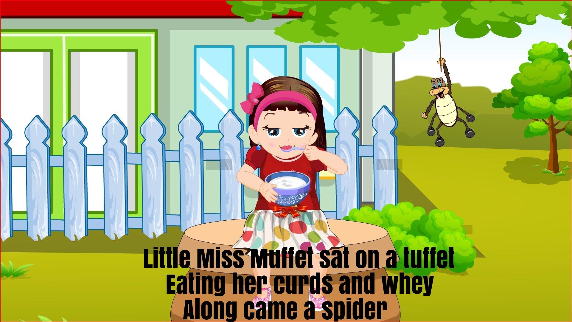 Little Miss Muffet Nursery Rhyme Lyrics Super Fun Baby