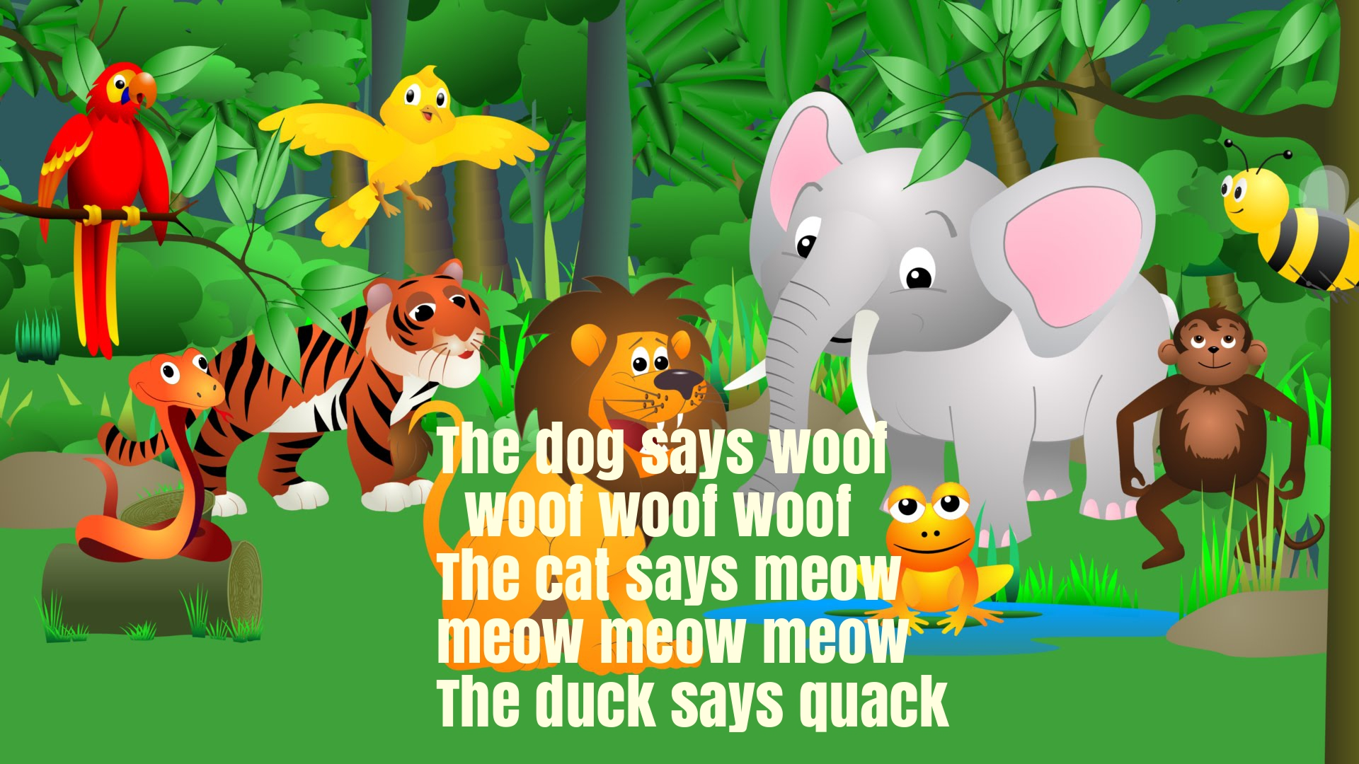 The Animal Sounds Song For Children Rhyme Lyrics Super Fun