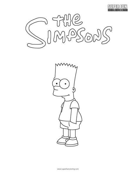 bart futbol colouring pages sketch coloring page
