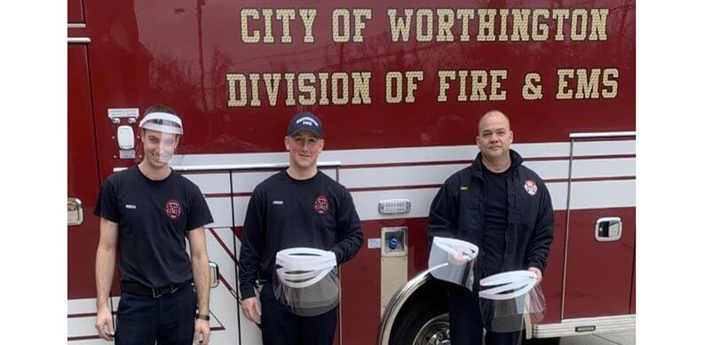 Donating Face Shields to Front Line Workers
