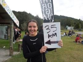 Sweaty Vera ran 35k in the bush
