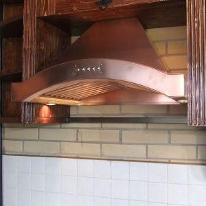 Вытяжка медная для кухни по индивидуальному дизайну