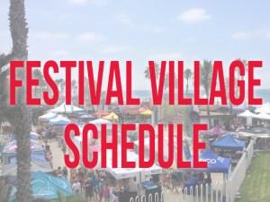 Festival Village Schedule