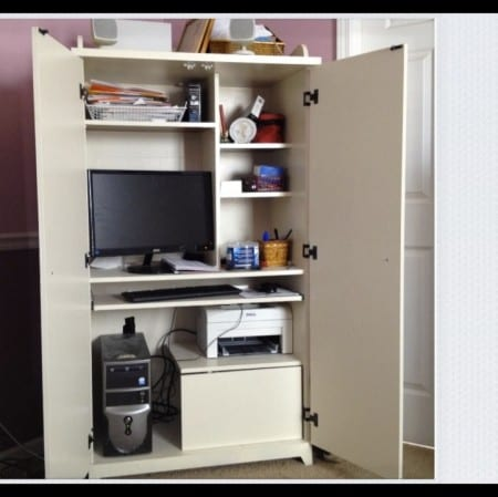 Re-painted Computer Cabinet