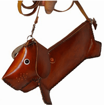Dachshund Design a Genuine Leather Cross Boday Purse Medium and 100 Handmade. Clothing