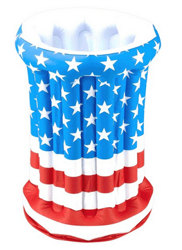 July 4th Independence Day Stars Stripes American US Flag Patriotic Inflatable Drink Cooler