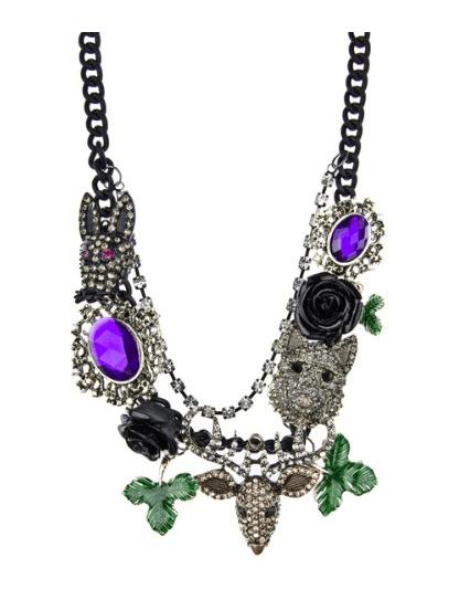 Zarah s Dark Fantasy Style Statement Necklace  Chain Necklaces  Jewelry