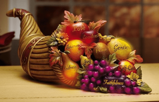 Color Changing Cornucopia Thanksgiving Centerpiece Holiday Figurines