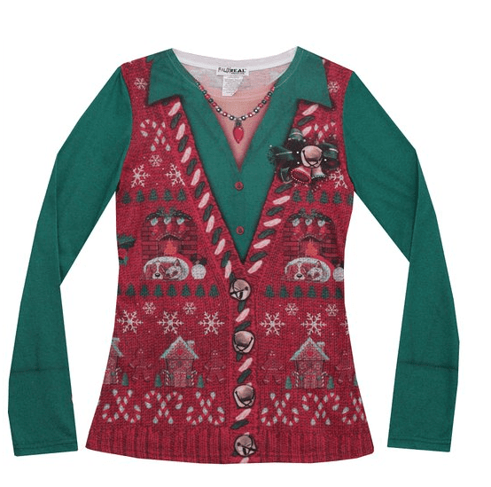 Womens PhotoRealistic Ugly Christmas Vest