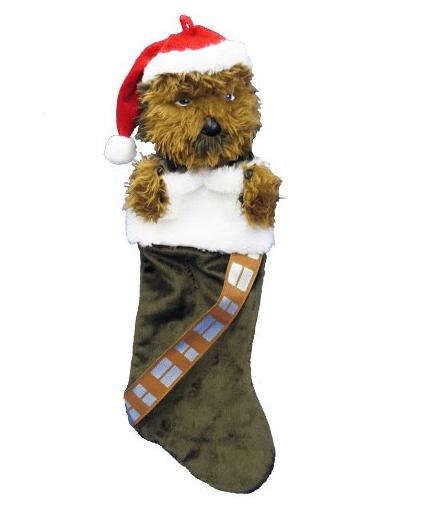 Kurt Adler Star Wars Chewbacca Plush Head Stocking
