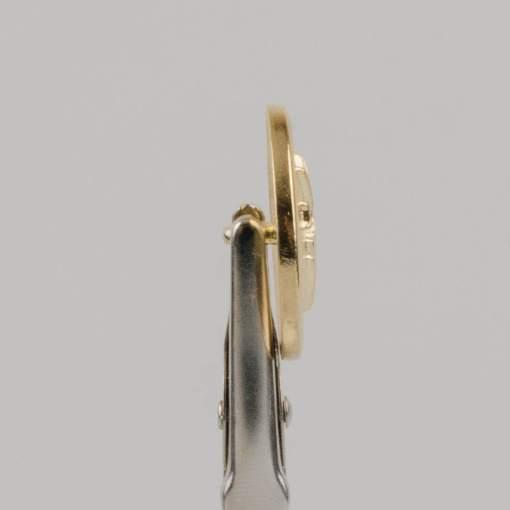 Guzik z herbem i koroną kolor złoty śr. 22 mm