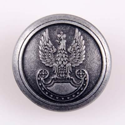 Guzik polskich Wojsk Lądowych kolor stare srebro śr. 22 mm