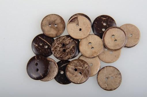 Guziki kokosowe do przyszycia 18 mm